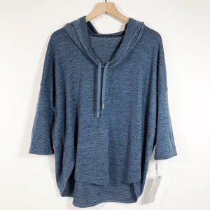 Calvin Klein Blue Cowl Neck Pullover Hoodie XL